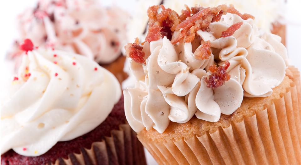 Bacon - cupcakes