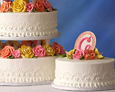 Wedding cakes at Schnucks