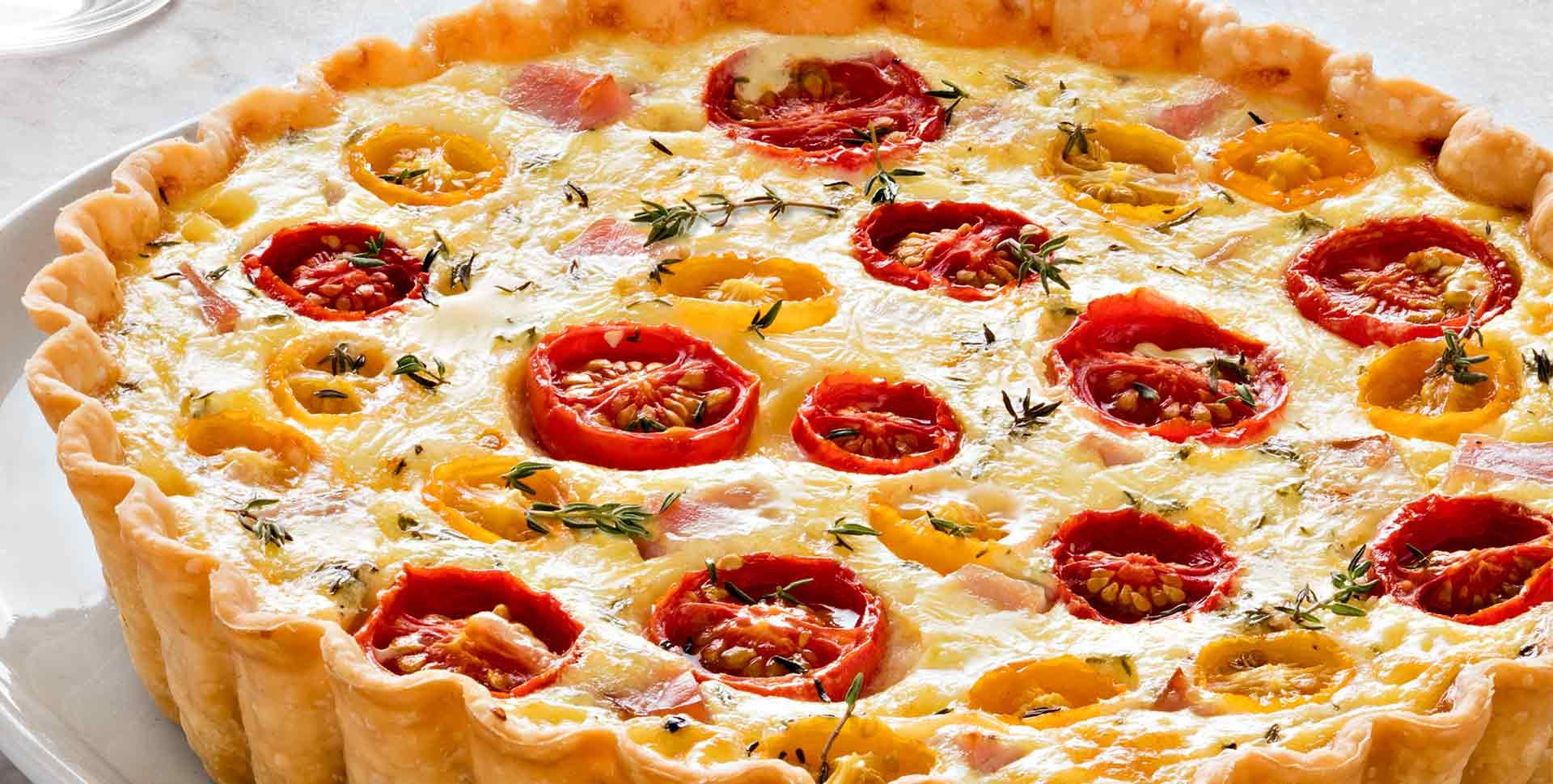 Ham and Tomato Quiche