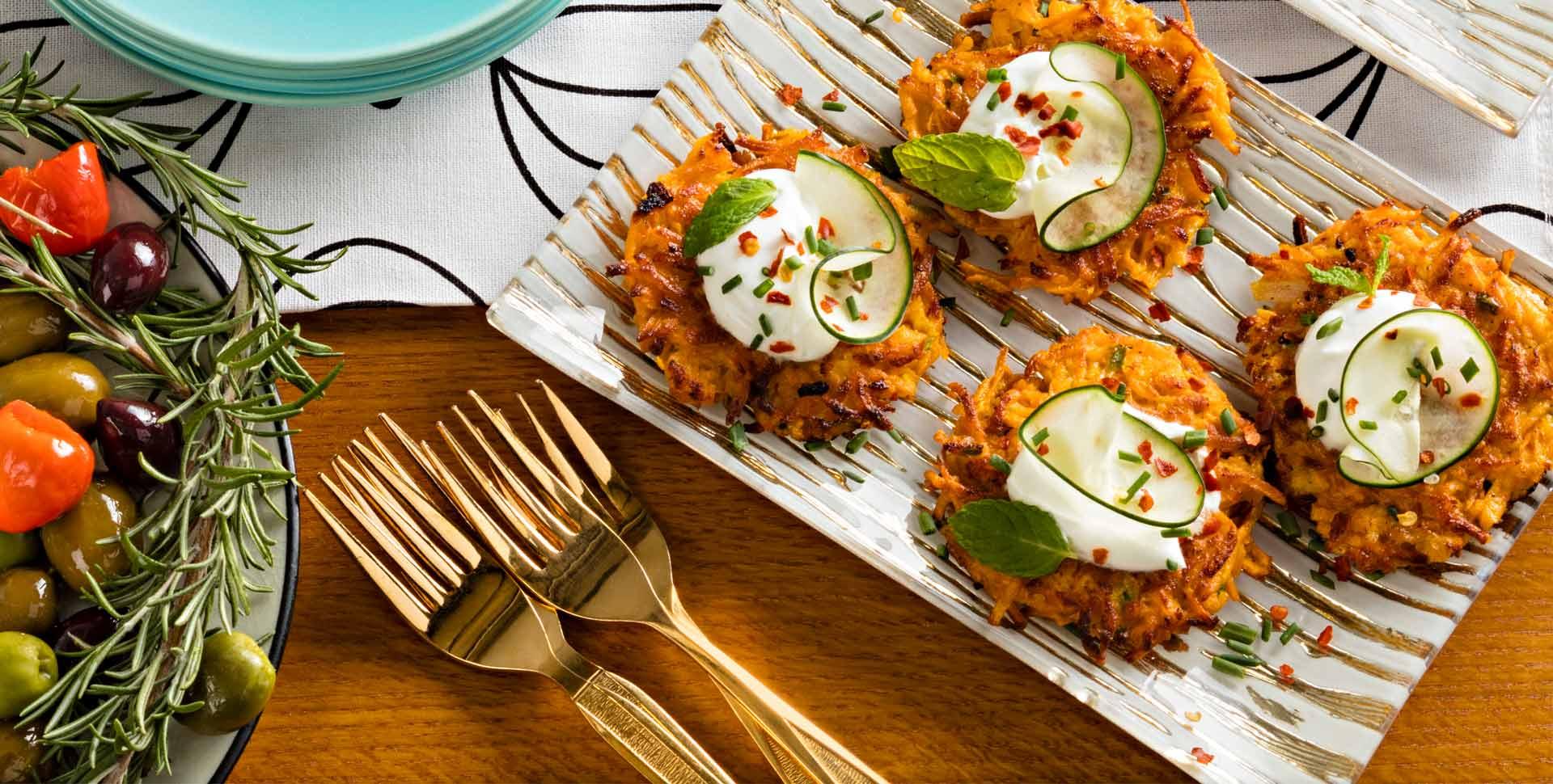 Sweet Potato and Onion Latkes