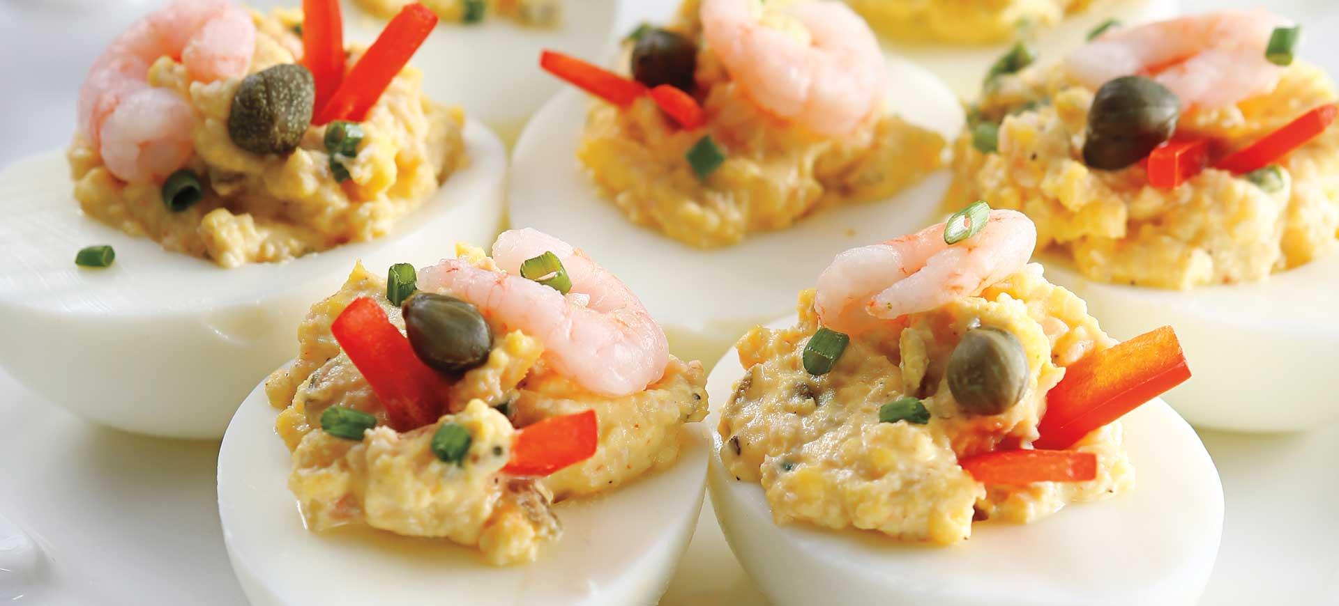 Shrimp Deviled Eggs - Schnucks