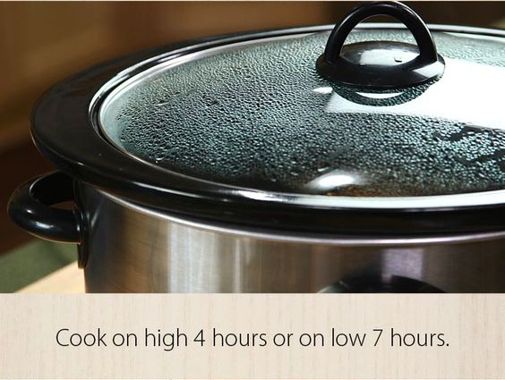 cook on high 4 hours or low 7 hours