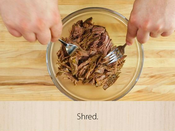 Shred beef