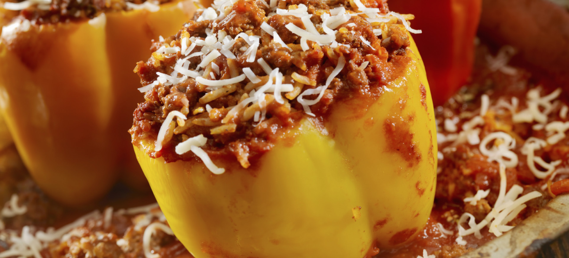banner chorizo stuffed peppers