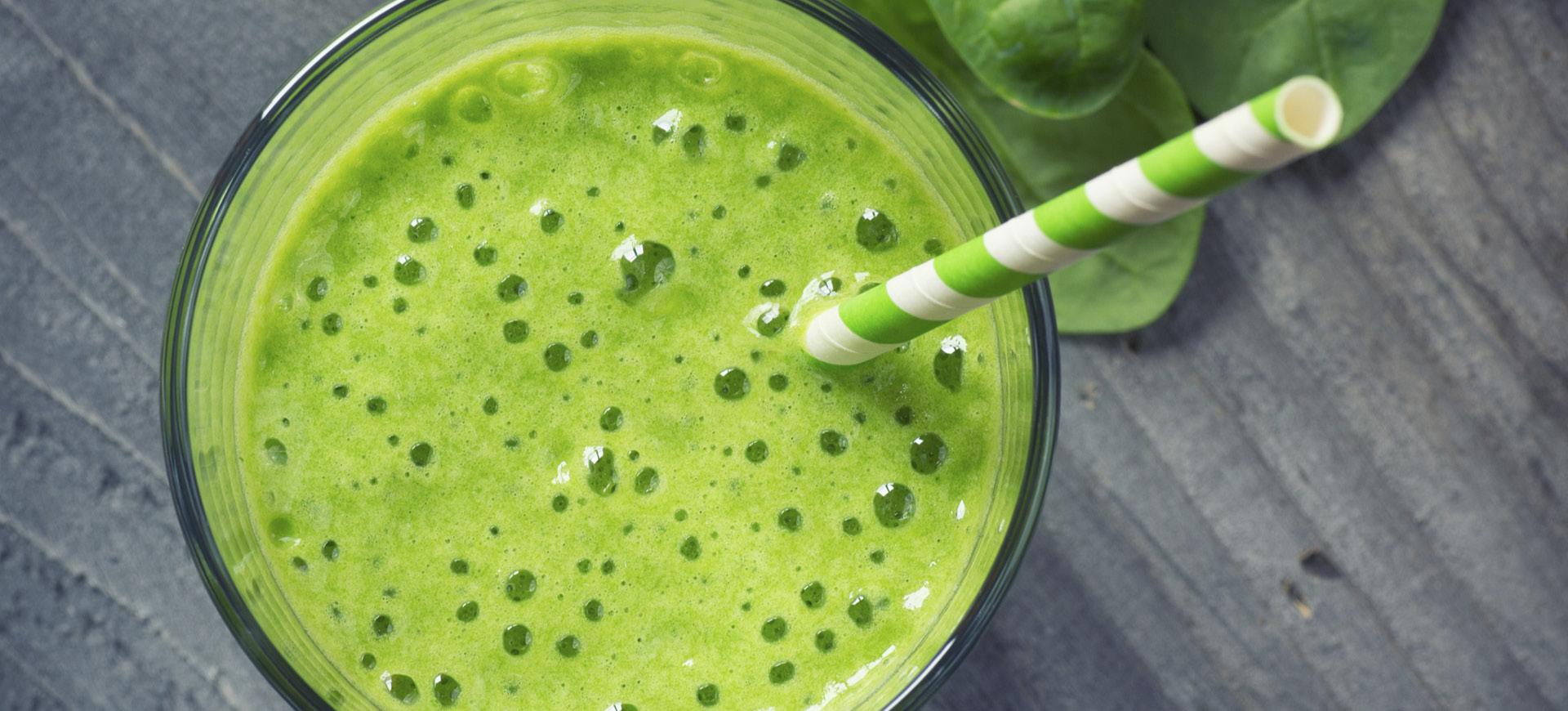 banner green machine smoothie