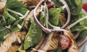 grilled turkey spinach salad