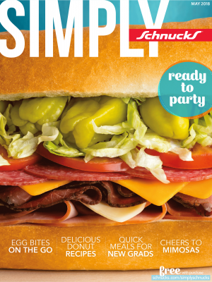Cover of May 2018 Simply Schnucks magazine