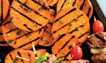 Thyme and Garlic Grilled Sweet Potatoes