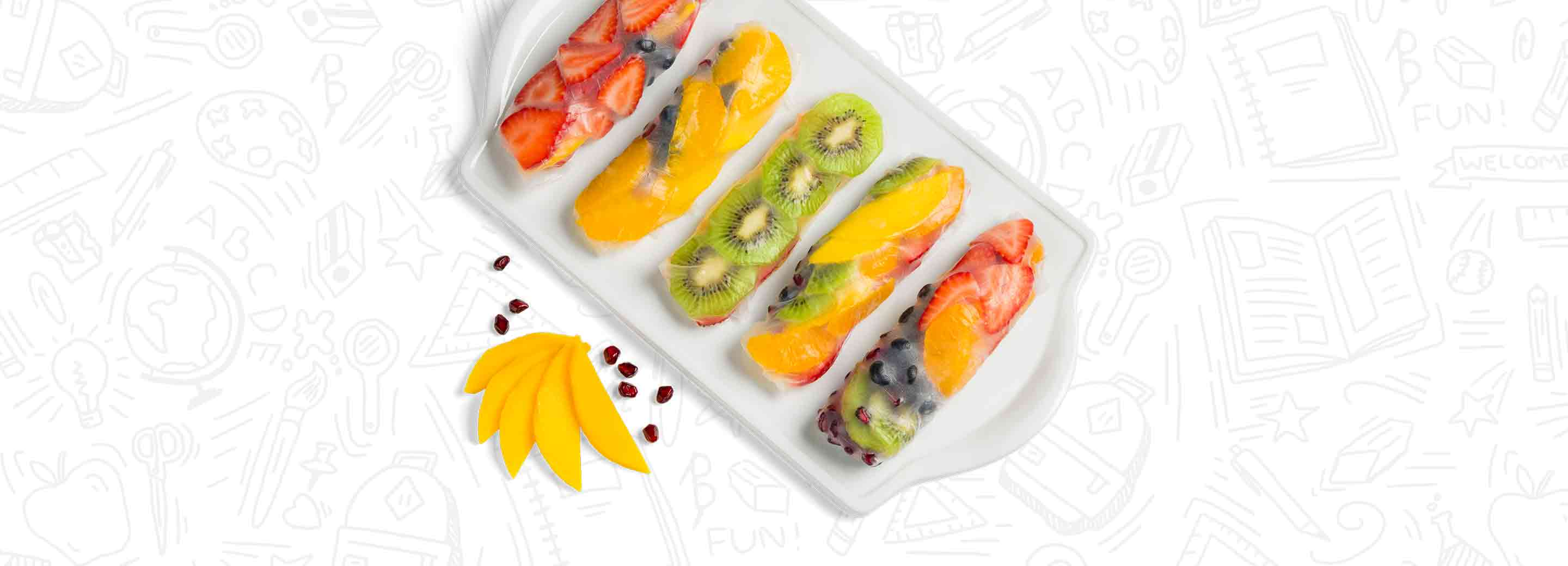 Fruity Rainbow Spring Rolls