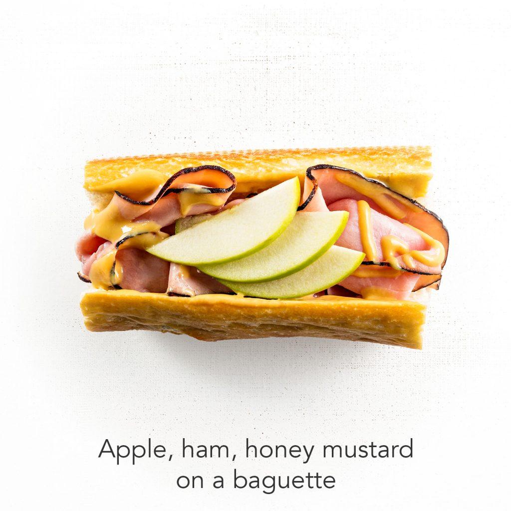 You're A Ten - Apple, Ham, Honey Mustard on Baguette