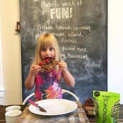child eating hazelnut toast