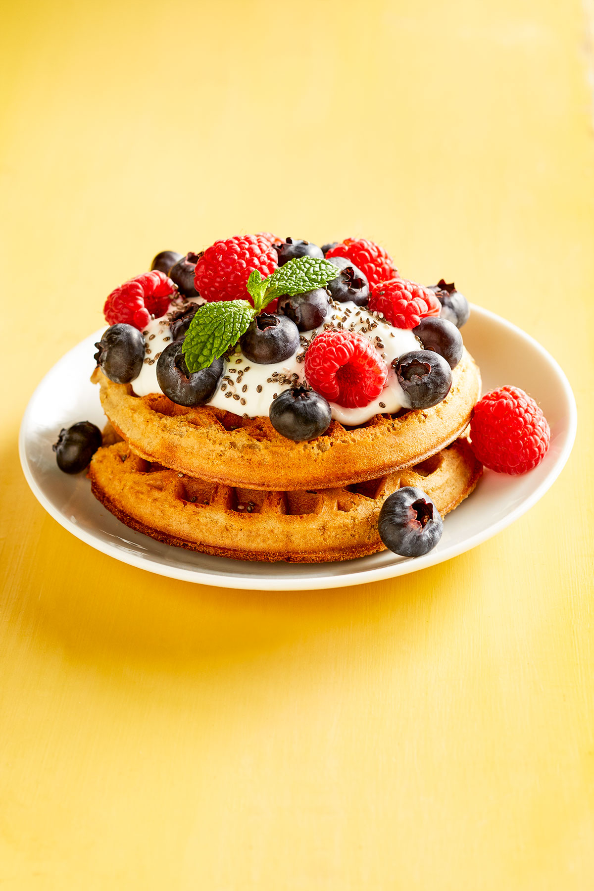 Greek Berry Waffles