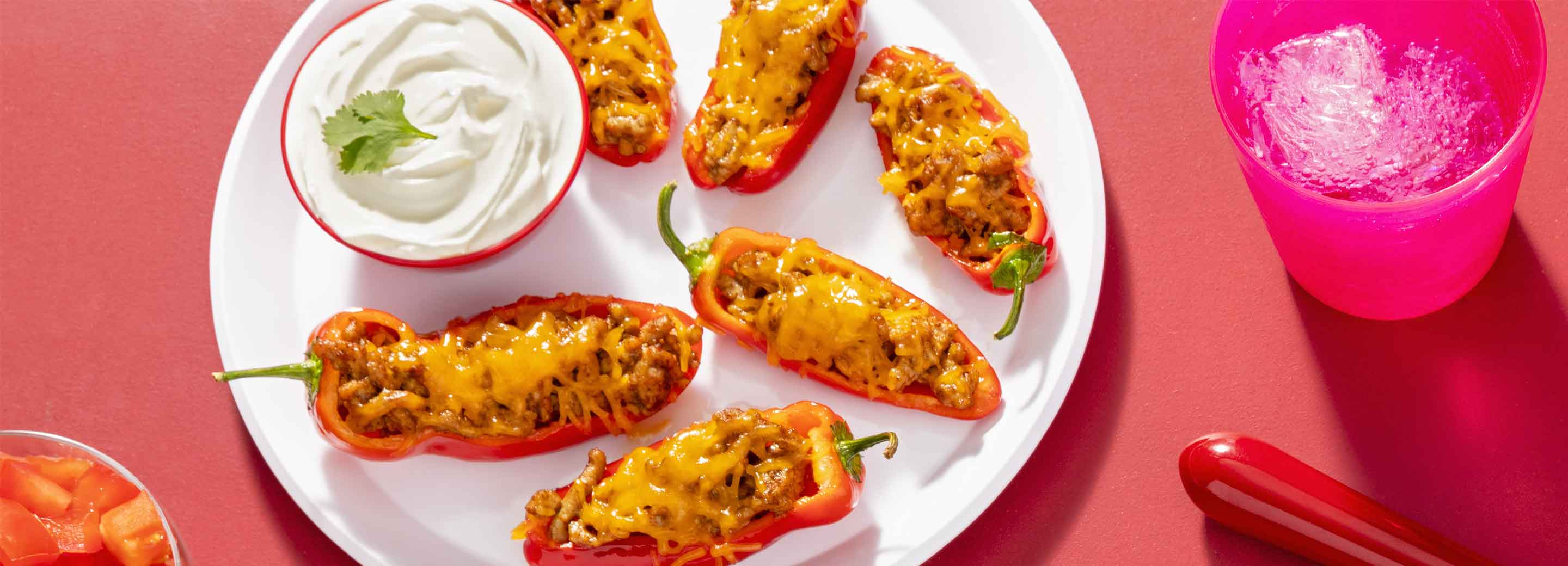 Red Pepper Taco Boats