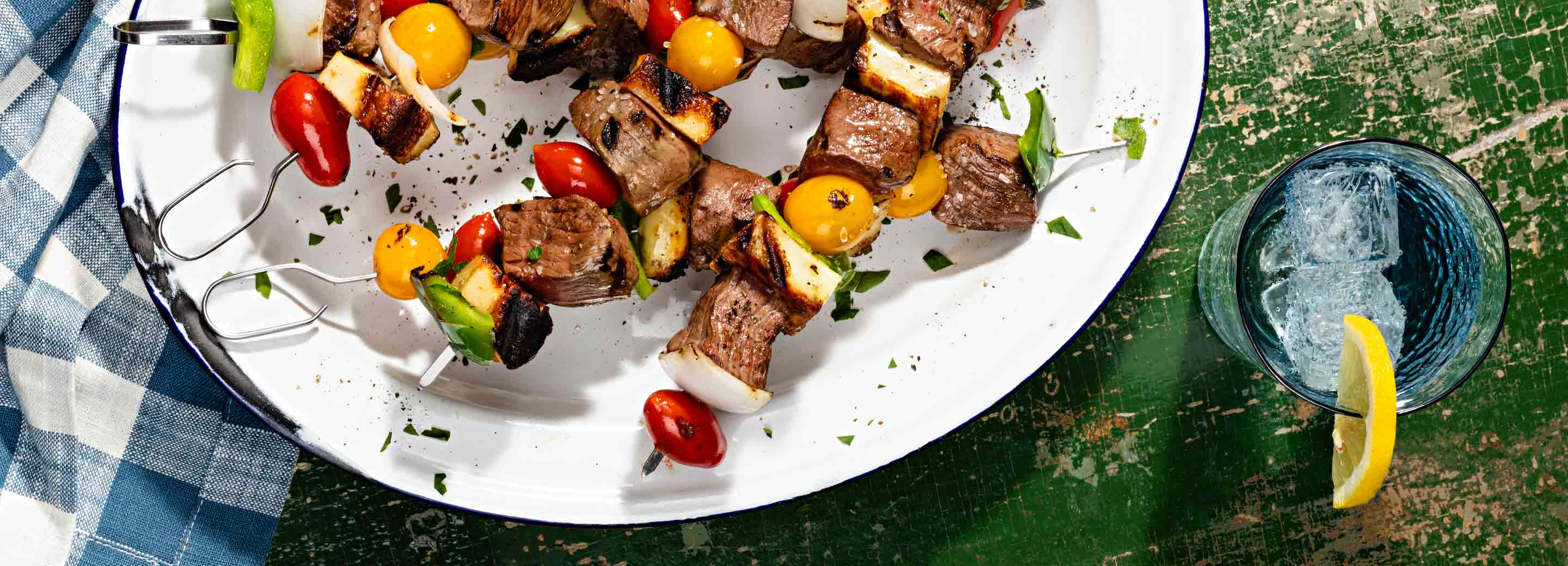 Grilled Cheesesteak Kabobs