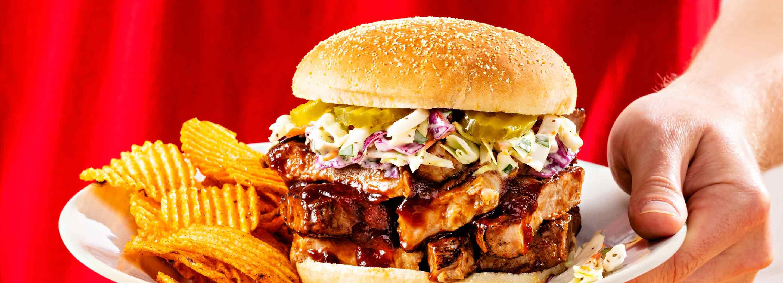 Schnucks Pork Steak Sandwich