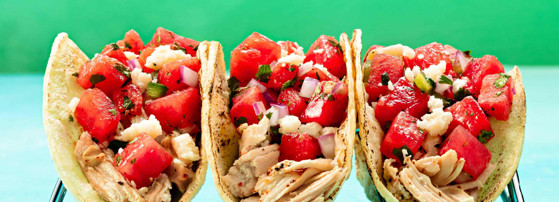 Watermelon Chicken Tacos