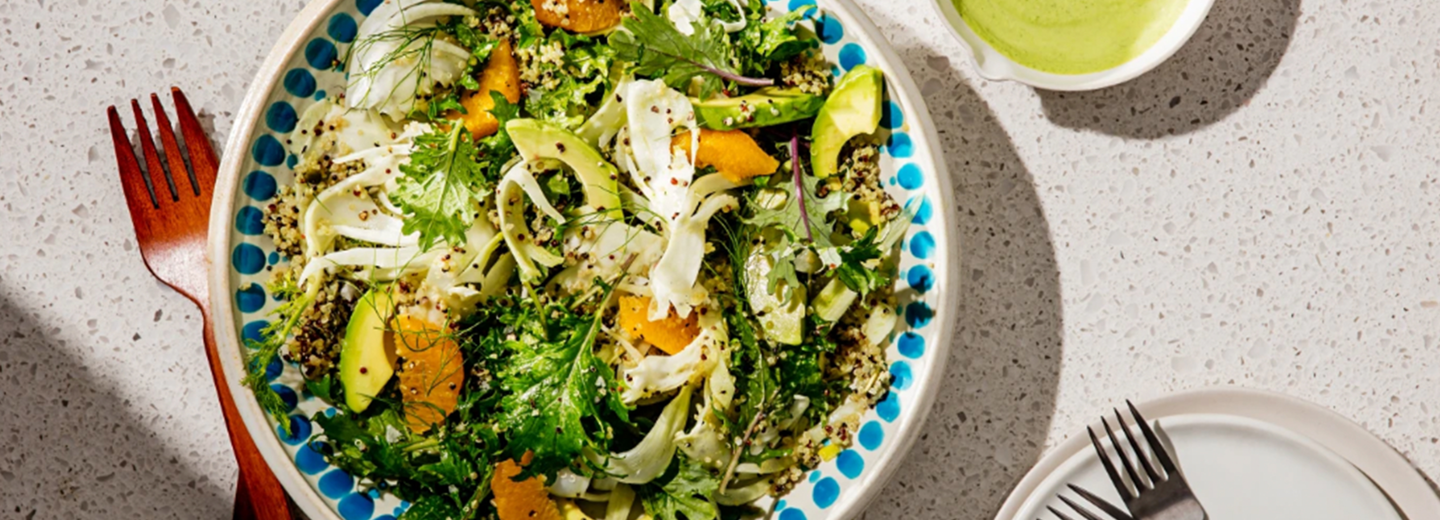 Kale Salad with Creamy Herb Dressing