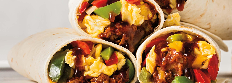 Barbecue Breakfast Burrito