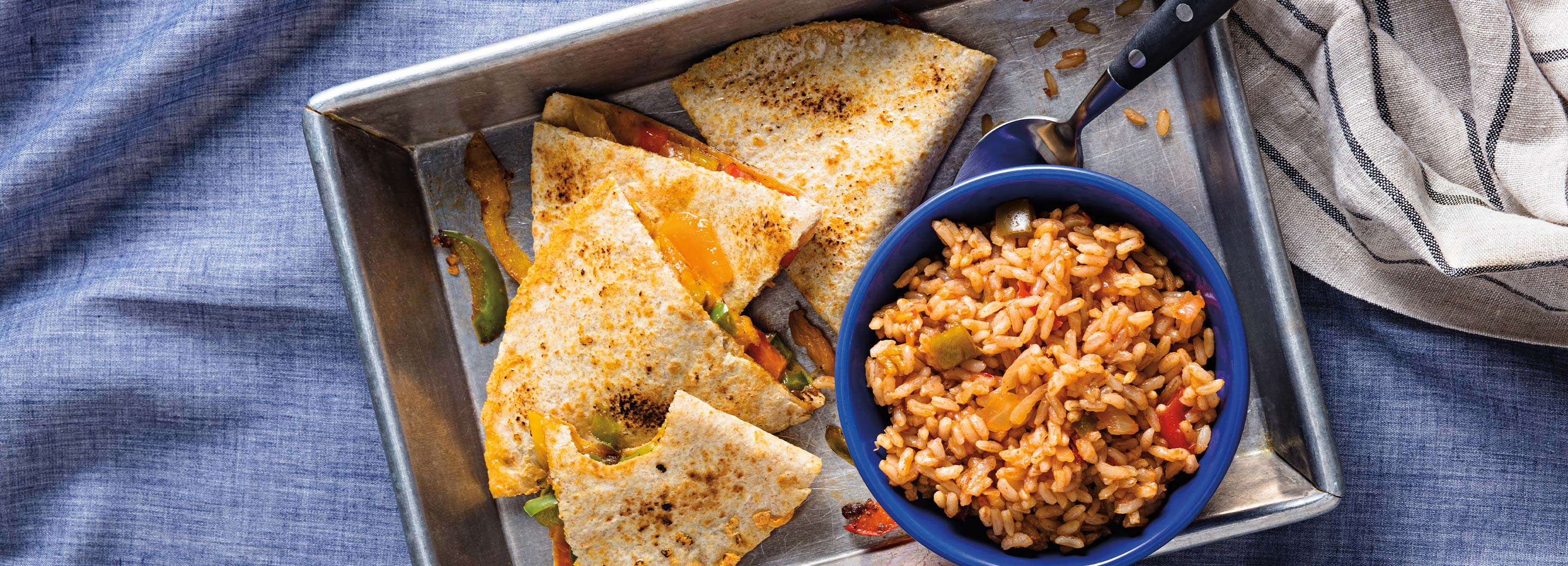 Tex-Mex Quesadilla with Rice