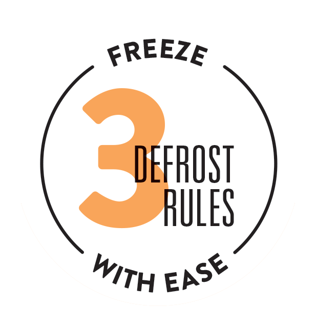 Freeze With Ease - 3 Defrost Rules
