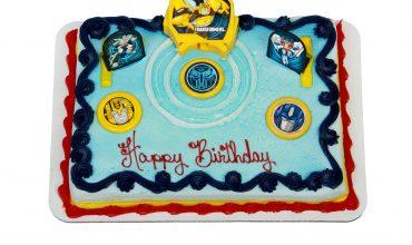 Kids Transformers Autobot Cake