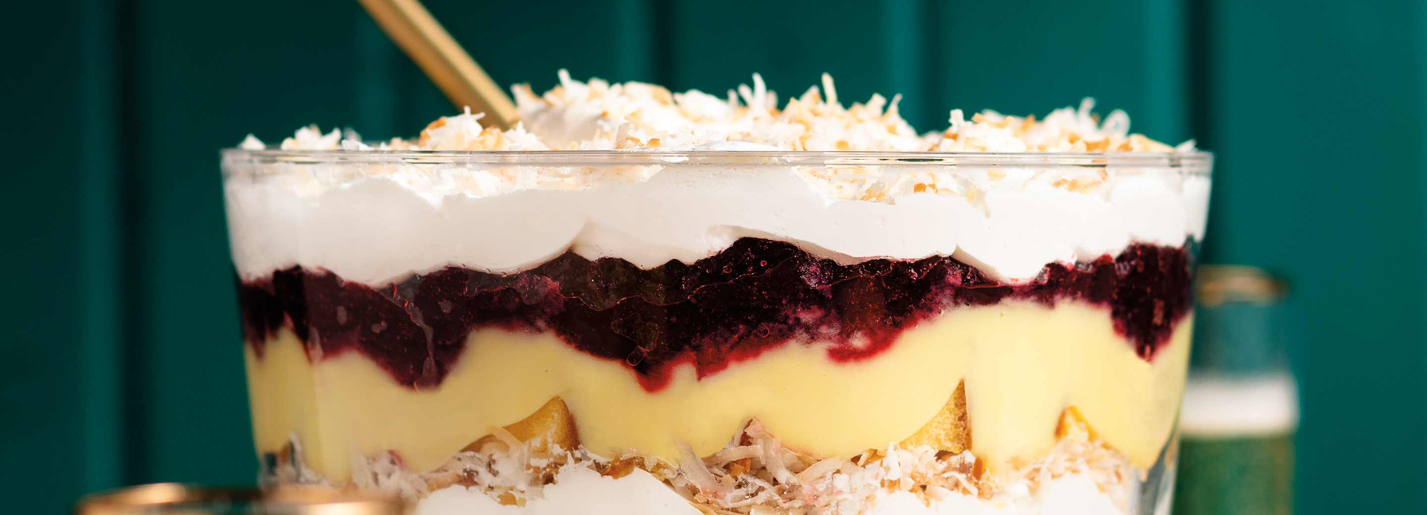Cranberry Holiday Trifle