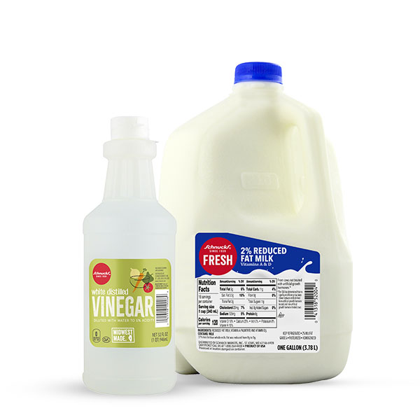 Schnucks Ingredient Swap - Vinegar and Milk For Buttermilk