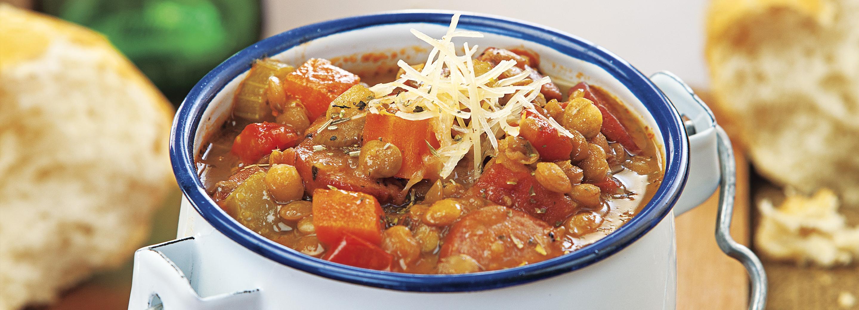 Turkey Sausage & Lentil Stew
