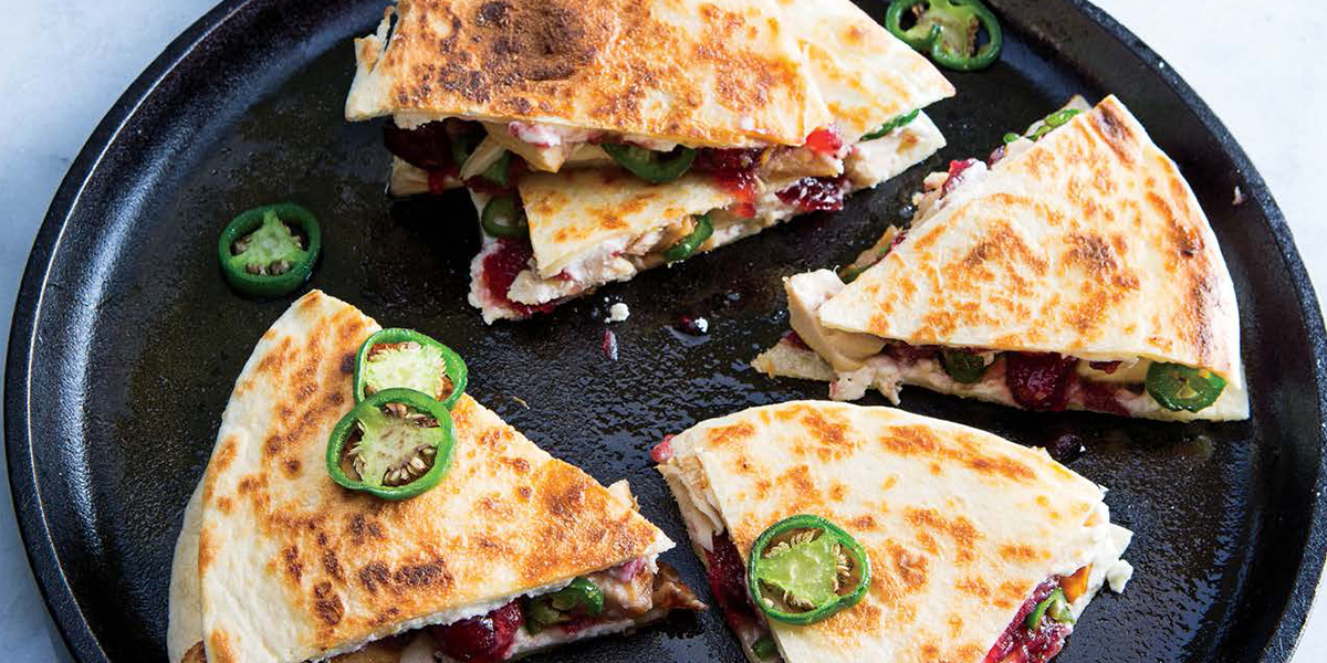 Turkey, Cranberry & Goat Cheese Quesadillas