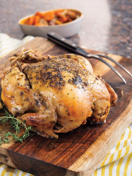 Slow Cooker Lemon Pepper Whole Chicken