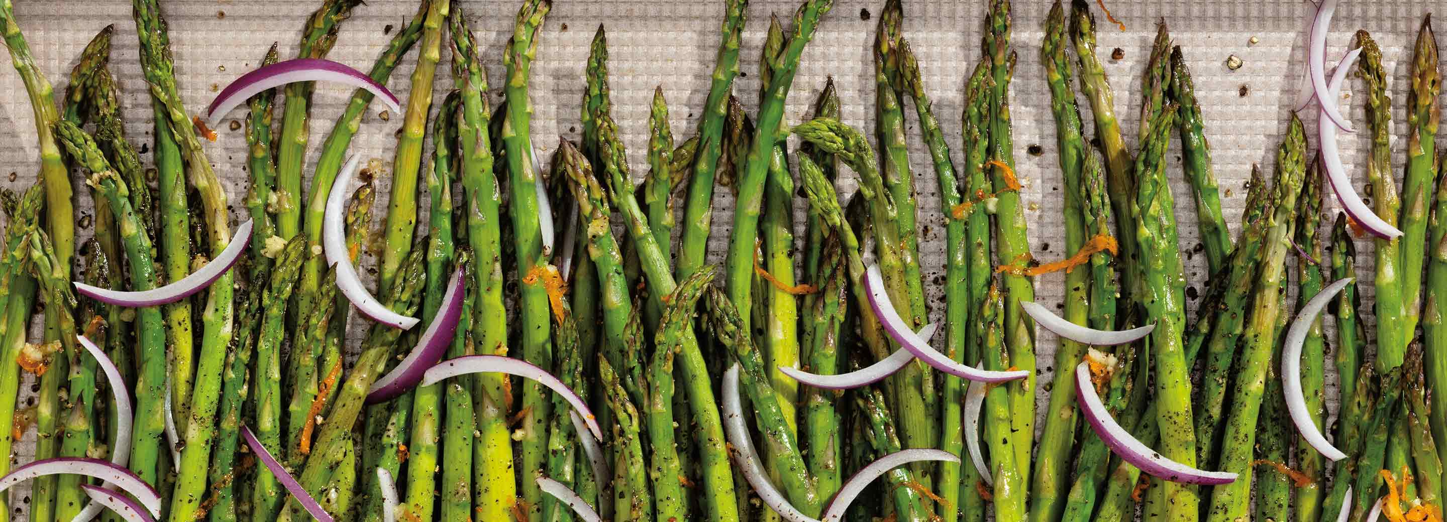Roasted Asparagus and Red Onion