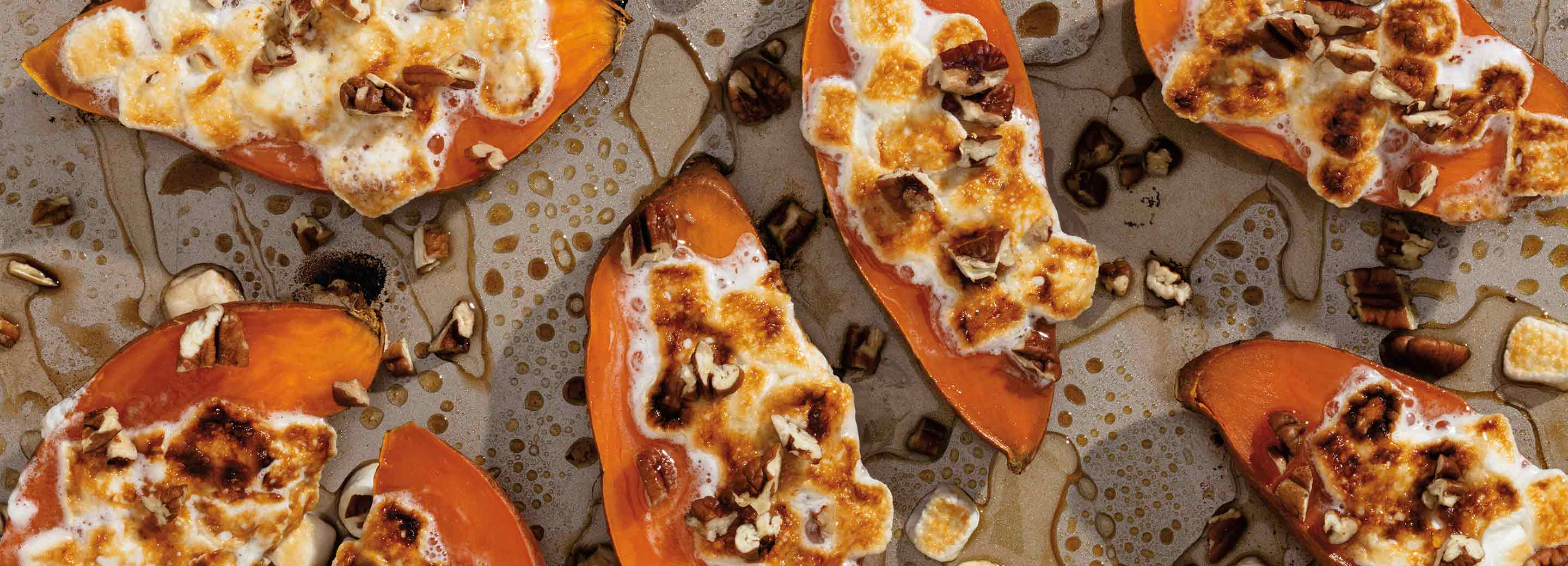 Sweet Potato Casserole Boats