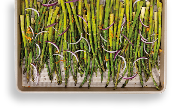 Roasted Asparagus & Red Onion