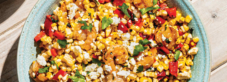 Charred Corn and Shrimp Salad