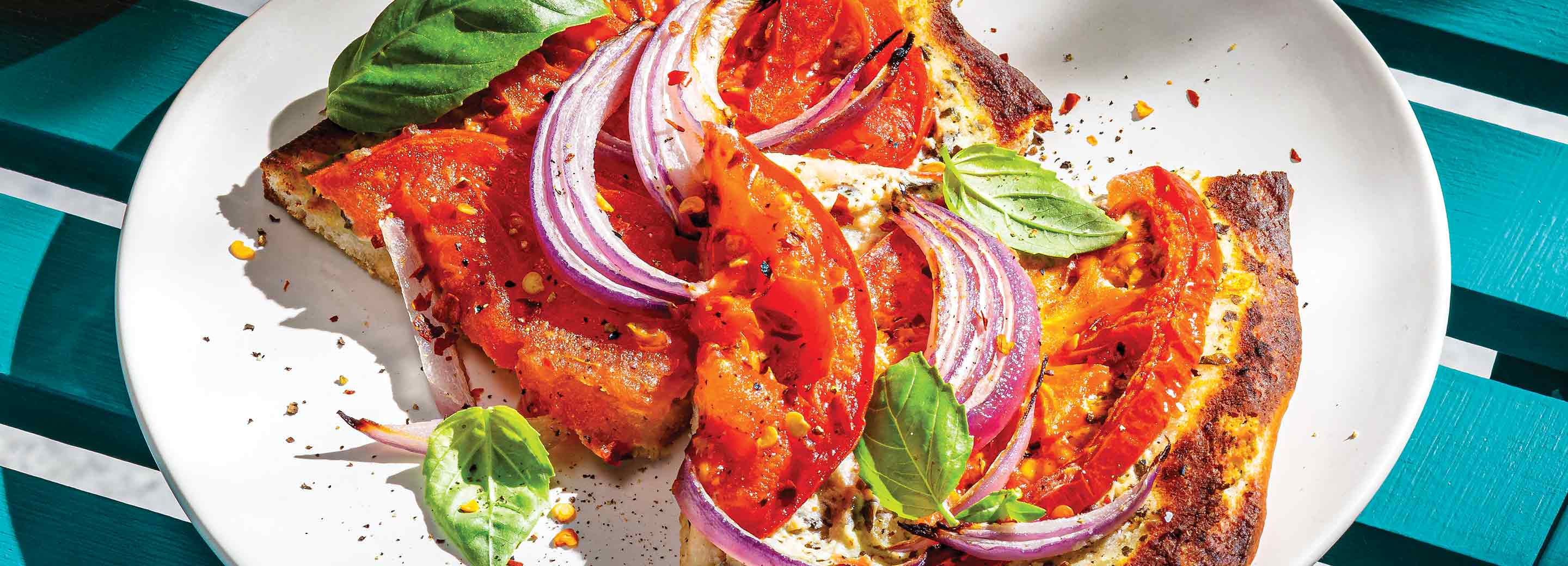 Chilled Summer Tomato Pizza