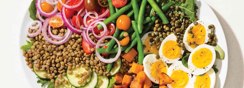 Lentil & Sweet Potato Niçoise Salad