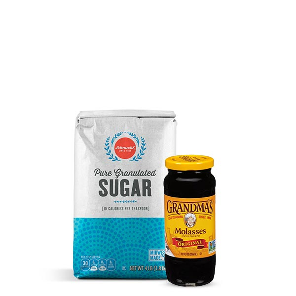 Brown sugar substitute white sugar and molasses