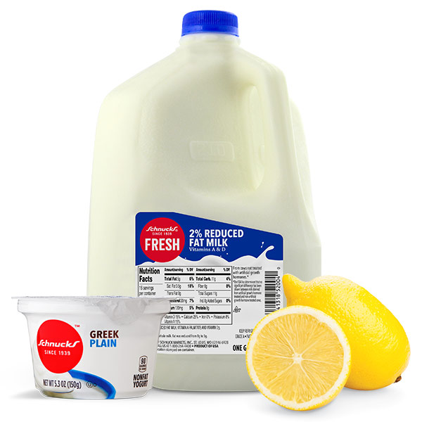Buttermilk substitute with plain yogurt or lemon juice and milk
