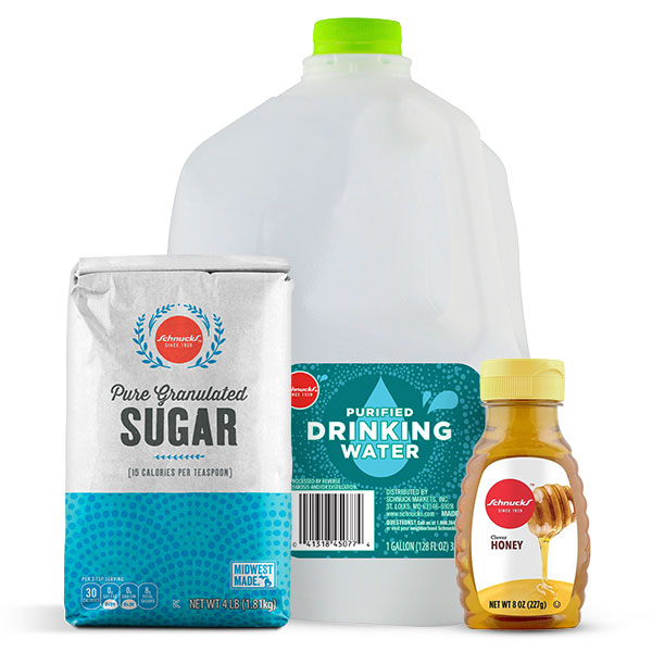 Corn Syrup substitute with honey or white sugar and water