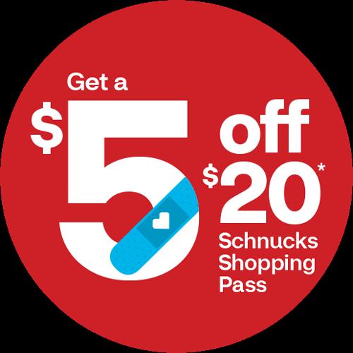 $5 Off $20 Schnucks Shopping Pass