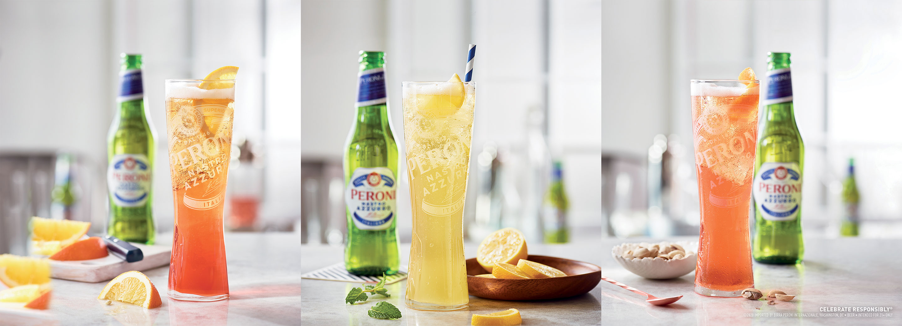 Peroni Italian Cocktail 3 Ways