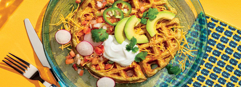 Mexican-Style Cauliflower Waffle