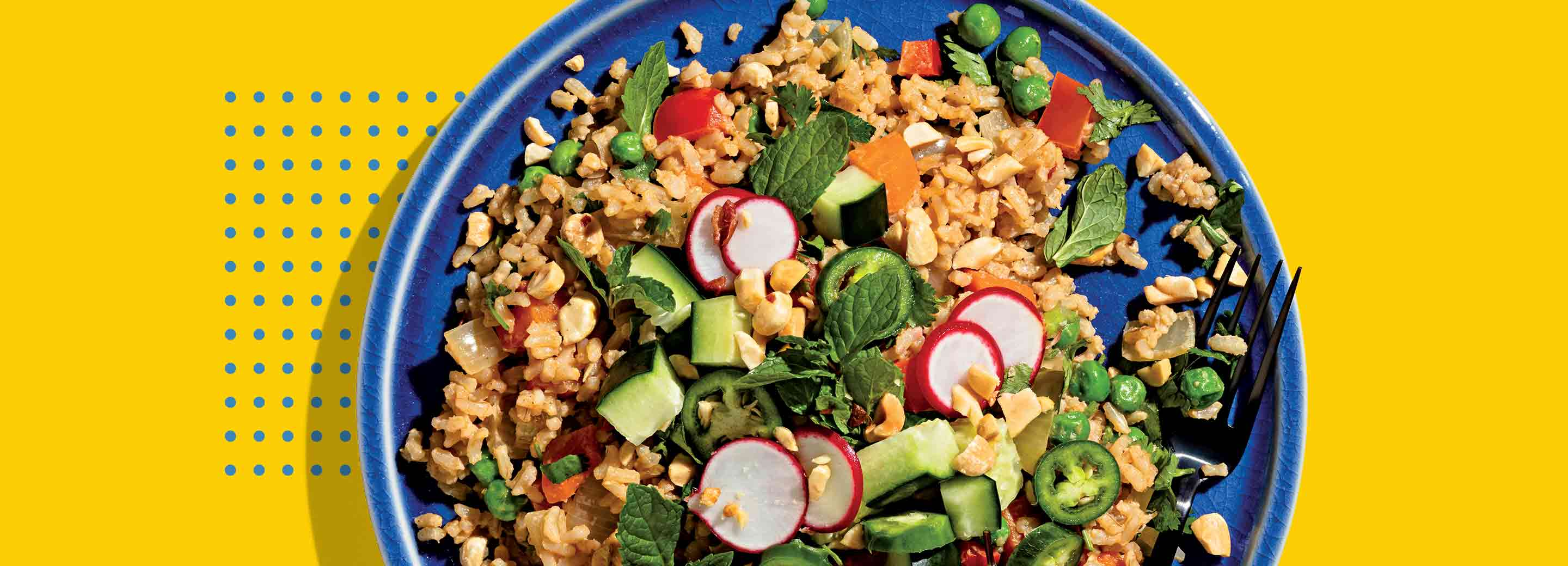 Peanut Fried Rice with Quick-Pickled Veggies