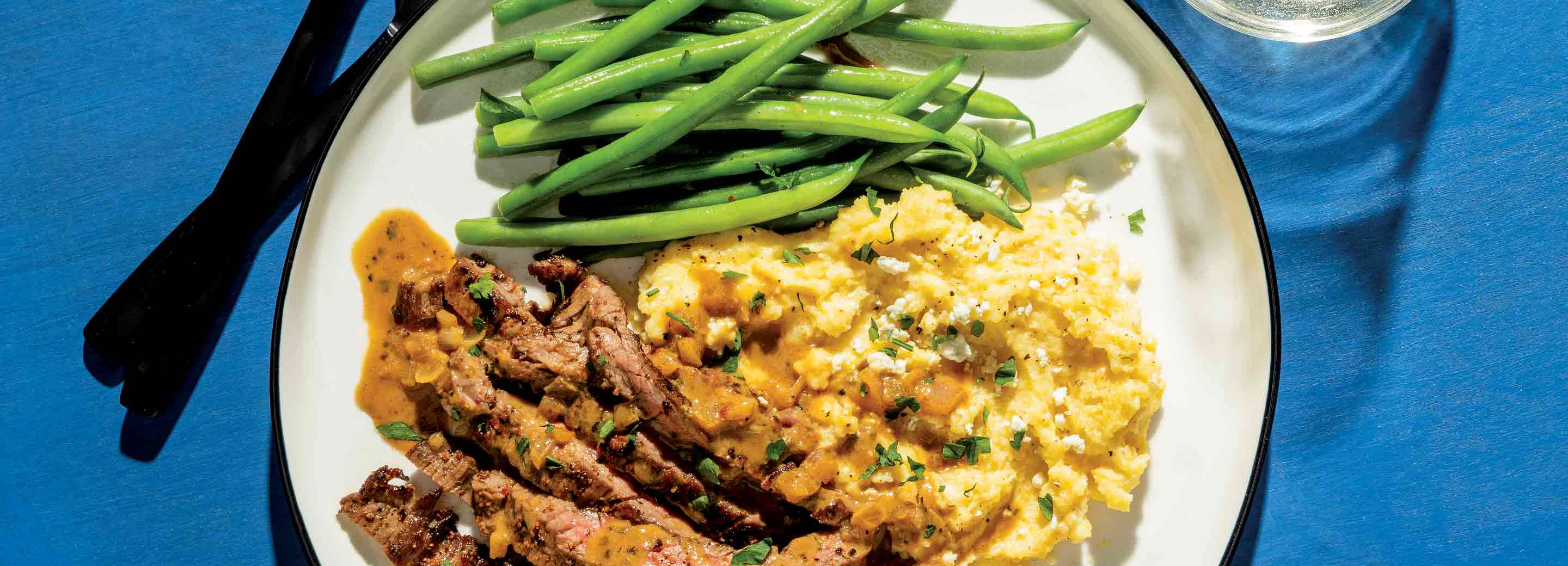 Steakhouse Dinner with Blue Cheese Polenta