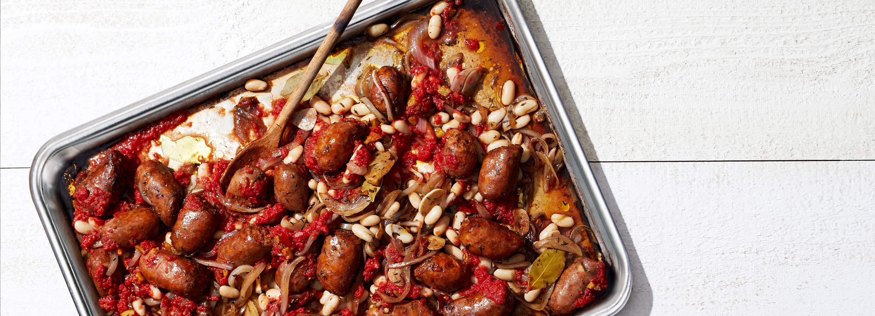 Sausage with White Beans and Tomatoes